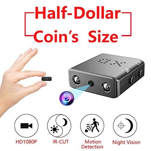 ZTour Mini Versteckte Spion-Kamera,Kleinste Vesteckte Überwachungskamera HD 1080P DV,DVR,Camkorder, Kleinste Spion Kamera mit Bewegungserkennung,Nachtsicht, IR,Loop Video für Arbeiten/Hause/Auto