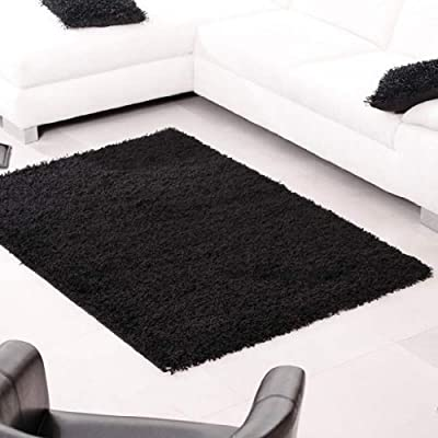 Shaggy Rug 963 Plain 5cm Floor Carpet Thick Soft Pile Modern Stylish 100% Berclon Twist Fibre Non-Shed Polyproylene Heat Set - AVAILABLE IN 7 SIZES by Quality Linen and Towels produced by Quality Linen and Towels - quick delivery from UK.