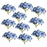 Gazechimp 10er Set Kunstblumen Blumen Künstliche Hortensie Blumen Dekoration Bouquet - Dunkelblau