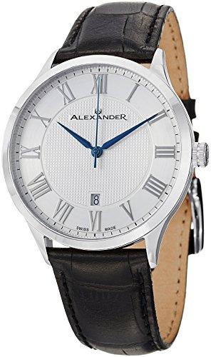 alexander-statesman-triumph-etui-en-acier-inoxydable-sur-bracelet-en-relief-en-cuir-veritable-noir-c