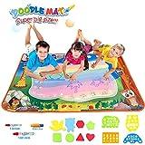 Angusiasm Doodle Tappeto Magico, 100 x 70cm Disegno Magico Mat Colorati Acqua Disegno di Doodle Scribble Boards- Giocattolo Gioco Educativo Regalo per Bambini