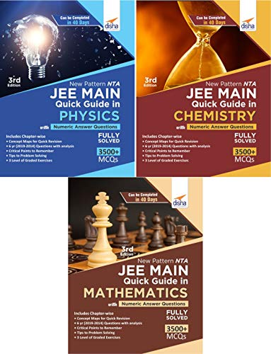 New Pattern NTA JEE Main Quick Guide in Physics, Chemistry & Mathematics with Numeric Answer Questions 3rd Edition