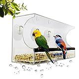 HHORD Mangiatoia Per Uccelli Con Finestra Grande/Hangout Della Natura Casa E Cucina Caratteristiche Finestra Mangiatoia Per Uccelli Con Vassoio Rimovibile