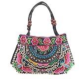 Bestickte Sommertasche Handtasche Damen Trend 2017 Bunt Flowerpower Schultertasche Mosaik