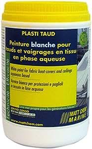 Matt Chem 964M Plasti Taud Peinture Blanche pour Tauds et Vaigrages en Tissu en Phase Aqueuse