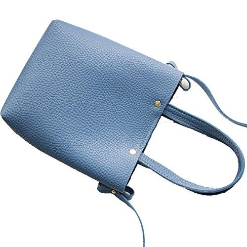 Addora I Nuovi Semplici Donne Pacchetto Telefono Cellulare Solido Selvaggio Borsa A Tracolla Il Tempo Libero Piccolo Pacchetto Quadrato PU borse Blue
