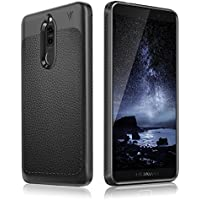 Huawei Mate 10 Lite Hülle, aus stoßsicheren & flexiblen Material mit einzigartiger Lederstruktur, hochwertige und robuste Smartphone Schutzhülle, ultra dünn & leicht (schwarz)