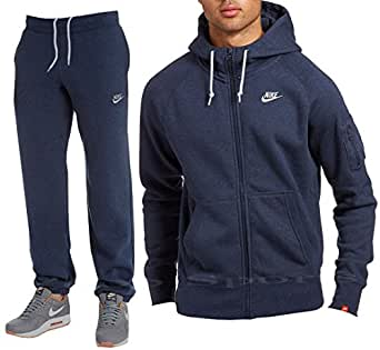 NIKE FOUNDATION TRACKSUIT FLEECE HOODY AND JOGGERS BOTTOMS