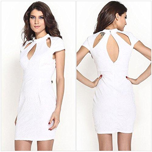 E-Girl femme Blanc SY21076-1 Robe millésime Blanc