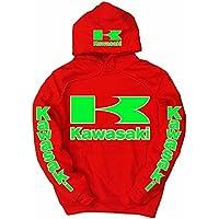 Kawasaki -  Felpa con cappuccio  - Uomo
