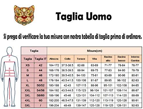 Miagolio Uomo Signori Ragazzi Cappotto Trench Giacca Da Vento a Manica Lunga(Vari Colori/taglie,2 Stili) #1 Con Pelliccia Nero