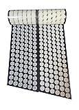 16 mm de diámetro 350 pares Monedas Correas de Gancho y lazo y sujeción auto adhesivo con reverso súper adherente Tela de nylon sujetadora Blanco