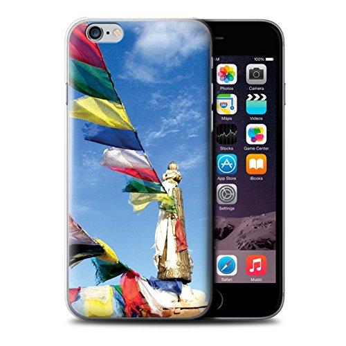 Stuff4 Hülle / Case für Apple iPhone 6 / Paro Taktsang Muster / Innerer Frieden Kollektion Gebetsfahnen