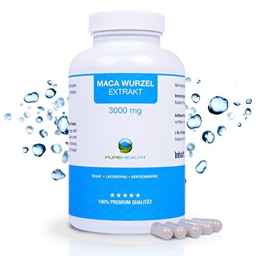Maca-Wurzel Kapseln • Für aktive Männer und Frauen • HOCHDOSIERT 300 mg pro Kapsel • 240 Kapsel = hält 4 Monate • Bekannt aus dem TV! • 100% vegan • Hergestellt in Deutschland