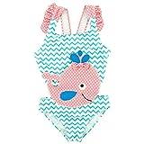 Baby Kinder Mädchen Ein Stück Cartoon Tier Punkte Bademode Sonnenschutz Schwimmanzug Badeanzüge