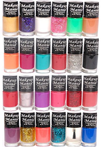 Makeup Mania Exclusive Nail Polish Set of 24 Pcs (Multicolor Set # 86, 87)