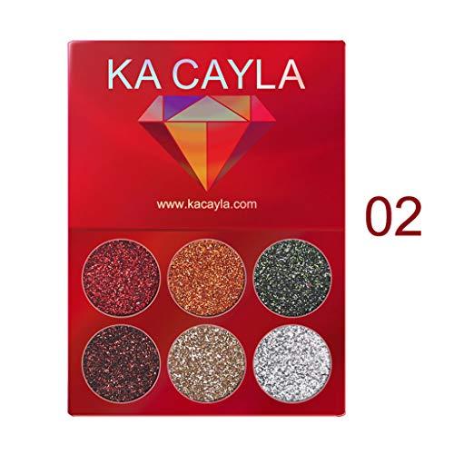 wyxhkj Ombre à paupières Maquillage fard à paupières fard à paupières cosmétique set fard à paupières 6 couleurs (B)