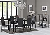 Best Dining Table Sets - EBS® Black Glass Dining Table Set and 6 Review