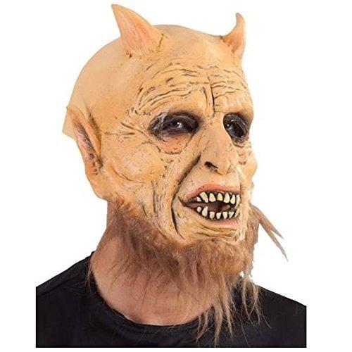 Dämonen Teufels-Maske mit Hörnern