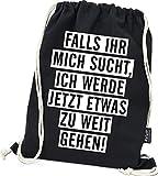 Hashtagstuff Turnbeutel mit Sprüchen Designs auswählbar Kordel Schwarz Spruch Rucksack Jutebeutel...