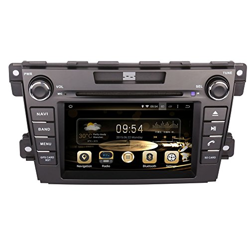 System Mazda Sound 3 (GPS Navigation Android 7.1 Auto Stereo CD DVD Player in Dash Radio mit 17,8 cm LCD Bluetooth Multimedia System für Mazda CX-7 2007 -)