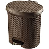 Bel Casa Magnum Pedal Bin Small with Inner, Brown