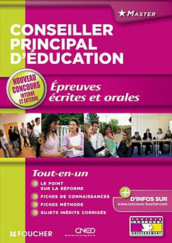 Conseiller principal d'éducation épreuves écrites et orales