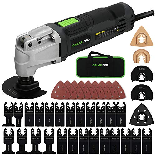Multifunktionswerkzeug, GALAX PRO Oszillationswerkzeug Oszillierer Multitool 260W 6 Einstellbare Geschwindigkeiten zum Entfernen,Schaben,Schneiden,Polieren mit 40 Zubehör und Tasche