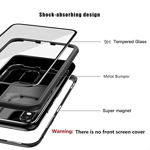 Cover Magnetica Alluminio Custodia Apple iPhone 7 Vetro Temperato 9H