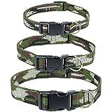 Me & My Pets Halsband mit Military-Print in Grün – Verschiedene Größen