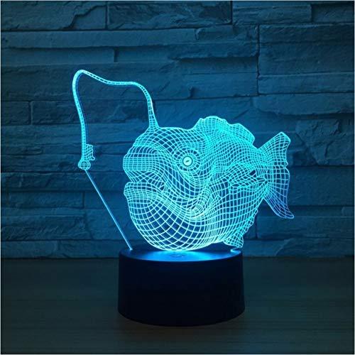 Marlin Fisch Lampe 3D Usb Visuelle Led 7 Farbe Nachtlicht Kreative Dekor Zimmer Tischlampe Schlaf Nachtlicht Kinder Geschenk (Star Licht Lichtschwert-zimmer Wars)