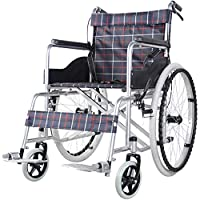 ACEDA Transport Wheelchair With Lightweight Thick Steel Frame,14Kg Folding Chair Is Portable,Front And Rear Brake,Seat Width 46Cm