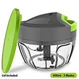 #1: Home Puff 3 Blades Vegetable Chopper, Cutter with Storage Lid (400ml)