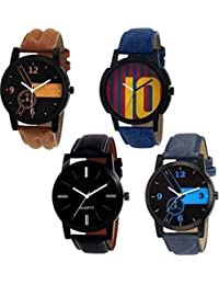 SkyLona Combo Of 4 Multi Color Analog Watch For Men And Boys