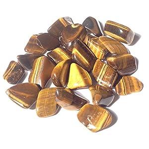 5 x Tigerauge Gold Trommelstein – Heilkristall – Schutz, Willkraft, Mut – Kristalltherapie Trommelstein
