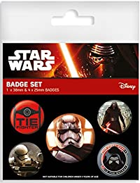 "Set de 5 Botones/Badges Star Wars: Episodio VII - The Force Awakens/El Despertar de la Fuerza ""The First Order"""