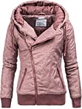 Sublevel D5174X44308D Winterjacke Kapuzenjacke 44308 8 Farben XS-XL Dark Rose XL
