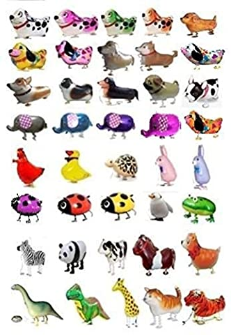 7 PCS/Set Walking Animals Balloon Kids Brithday Party Decor Children Gifts-Mixed Pets Air Walkers (Baby In Walker Kostüm)
