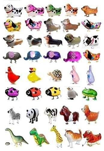 7 PCS/Set Walking Animals Balloon Kids Brithday Party Decor Children Gifts-Mixed Pets Air Walkers