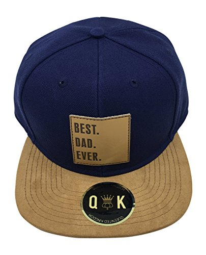 QUEENITED KINGDOM Family/Couple Snapback Suede (Best DAD, Best MOM, Best SIS, Best BRO, Best KID, Best GIRL, Best GF, Best BF.) (BEST DAD EVER | Blau)