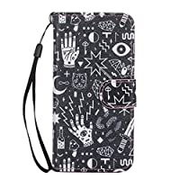 JGNTJLS iPhone 6/6S Leather Case[Free Tempered Glass Screen Protector] With Hand Wrist Strap,Colorful Pattern Design,Flip PU Leather Wallet Card Slot Stand Case Cover For Apple iPhone 6/6S 4.7