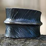 Gehämmerter Silber-Ring geschmiedete ausgefallene Ringe Goldschmiede-arbeiten handgemachter Echt-Schmuck