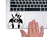 Fusion Graphix Deadpool Heart Hands Marvel Superhero Lapton skin Stickers Black