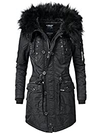 Khujo Damen Mantel Wintermantel Winterparka YM-Halle (vegan hergestellt) 4 Farben XS-XXL
