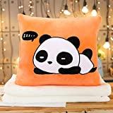 DONGER Almohada De Mano Caliente Que Se Inserta Linda Tres-En-Uno Pequeña Muñeca Almohada Colcha De Muñeca De Doble Uso, Panda, Almohada Individual - Sin Manta