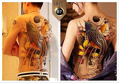 ZPF Tätowierung Big Large Full Back Brust Tattoo Große Tattoo Aufkleber Fisch Wolf Tiger Dragon Wasserdicht Temporäre Flash Tattoos Cool Men WomenX07
