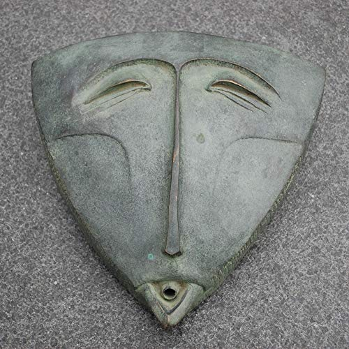 Kunsthandel Lohmann Bronze Wasserspeier Cycladic Wallmask von Dennis Fairweather Wand Maske abstrakt -