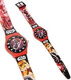 Unbekannt Armbanduhr -  Star Wars - Darth Vader  - incl. Name - 3-D Effekt Motiv - Analog - passend für Kinder & Erwachsene - Kinderuhr / Lernuhr - Kunststoff Armband..