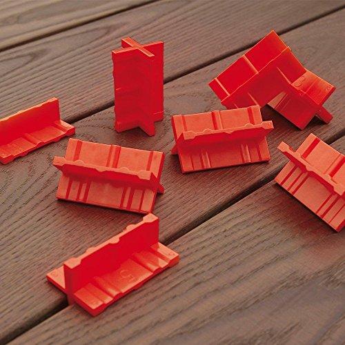 Espaceur de lames de Terrasse, Cales de 3 / 4 / 5 / 6 mm - lot de 8 pcs