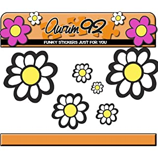 New White Daisy Stickers - Over 40 Flowers